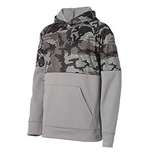Boys Camo Print Performance Fleece Hoodie